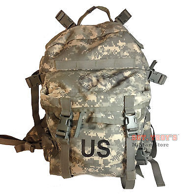 US ARMY ACU ASSAULT PACK 3 DAY MOLLE II BACKPACK BUG OUT BAG Good with Stiffener