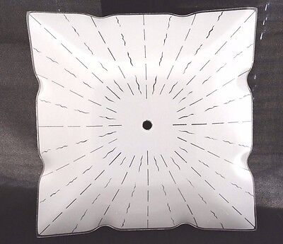 """NEW Vintage 12"""" SQUARE Glass CEILING Light Fixture SHADE Retro 1 for $24, 2 $38"""
