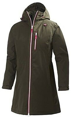 (TG. XS) Helly Hansen, Giacca Donna Long Belfast, Verde (Olivenight), XS - NUOVO