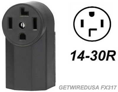 Dryer Electric Wall Outlet Female 14-30R 4-Prong Plug In Box 220 Receptacle