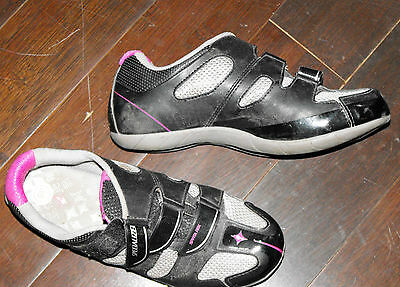 Specialized cycling shoes ladies 7.25 black pink