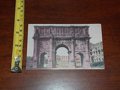 Postcard Vintage Old Rare Arch Of Constantine Rome Christian Emperor Italy