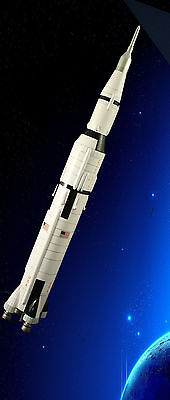 Nasa Saturn V Space Rocket Large Scale 1:200  Quality Handcrafted Model On Stand