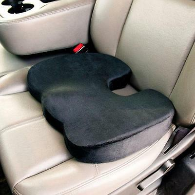 Cush Comfort Non-Slip Memory Foam Seat Cushion - Spinal Alignment Chair Pad for