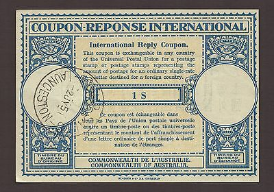 1951 Australia Coupon Reponse International Reply Coupon Stamp Sales Launceston