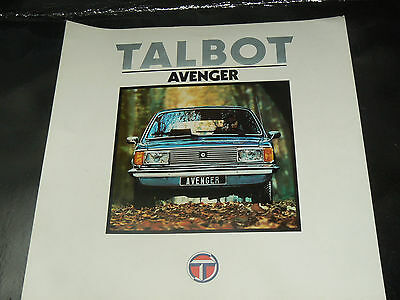Grand Catalogue SIMCA TALBOT AVENGER  prospekt  prospectus brochure Chrysler