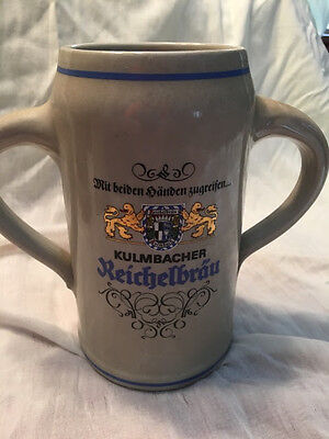 Gerz Beer Stein Mug Fox Handle Boar Hunt West Germany Rare