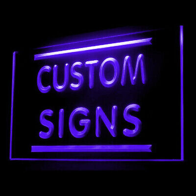 Personalized Geek Customize Custom Made Your Text Display LED Light Sign