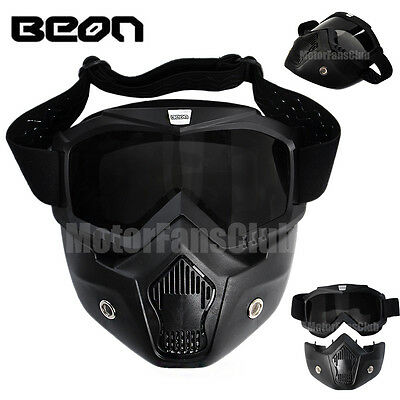 AU STOCK Beon Modular Face Mask Shield Goggles For Motorcycle Helmet Detachable