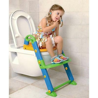 Kids Kit 3 in 1 Potty Trainer Baby/Toddler Foldable Step Up Toilet Training Seat