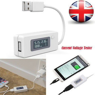 Mini LCD USB Voltage Current Detector Mobile Power Charger Digital Tester Meter
