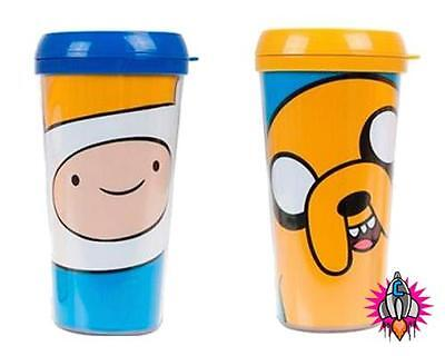 Official Adventure Time Plastic Jake Or Finn Travel Coffee Mug Cup