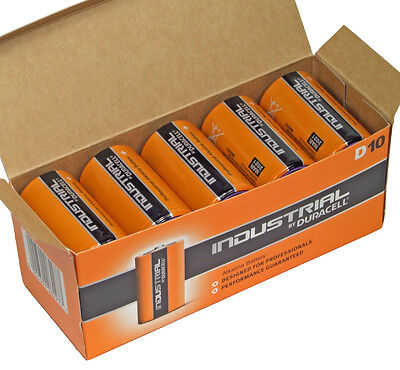 Duracell Industrial Procell MN1300 D Cell Box of 10 Alkaline Batteries