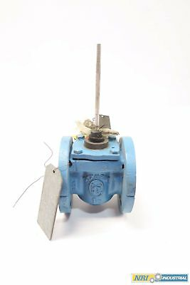 Dezurik 9099290 1-1/2 In Steel Flanged Plug Valve