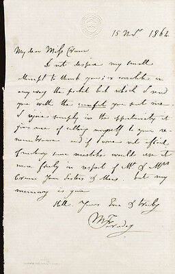 Michael Faraday - Autograph Letter Signed 11/15/1864
