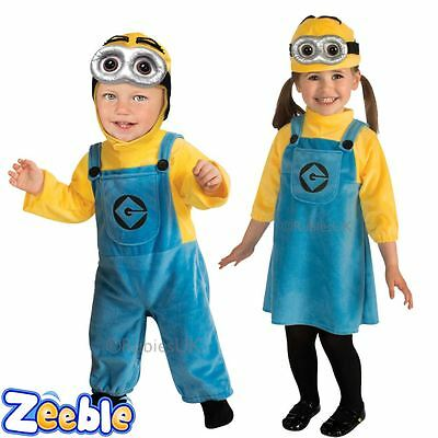 Despicable Me Minion Costume for Toddlers Ages 1-2 Years Official Outfits