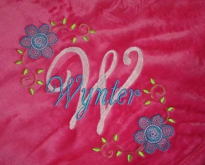 Personalized Monogrammed Baby Blanket Soft Tahoe Fleece Several Boy or Girl