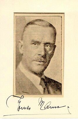 Thomas Mann - Signature(S)
