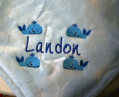 Personalized Monogrammed Baby Blanket Soft Tahoe Fleece Several Colors & Designs