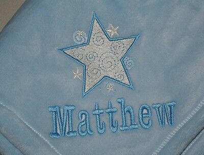 Embroidered Monogrammed Baby Blanket Tahoe Fleece Soft Boy or Girl