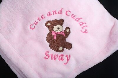 Personalized  Monogrammed Baby Blanket Extra Soft!