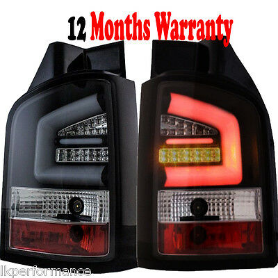 NEW TECHNOLOGIE REAR LED Lights VW T5 09-14 GP TAIL LIGHTS SET SMOKE LIGHTS BAR