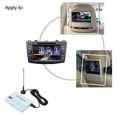 Mini Car DVD TV Receiver Monitor Analog TV Tuner Strong Signal Box Antenna H1D3