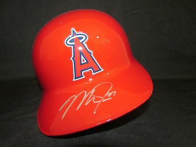 Mike Trout Angels Autographed/Signed Rawlings Batting Helmet MLB HOLO JB684818