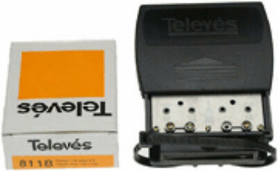New Televes 8118 Outdoor Masthead 31dB Gain Wideband Amplifier + VHF Diplexer