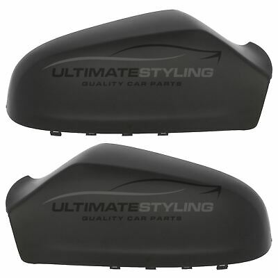 Vauxhall Astra H MK5 2004-2009 Black Door Wing Mirror Cover Pair Left & Right