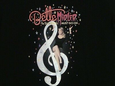 BETTE MIDLER The Showgirl Must Go On Ladies T-Shirt  M