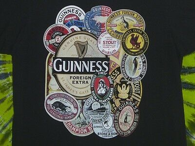 GUINNESS STOUT Vintage Guinness Labels T-Shirt L