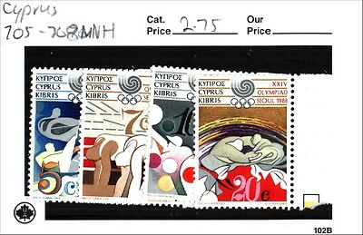 Cyprus Stamps Scott 705-708 MNH Low Combined Shipping