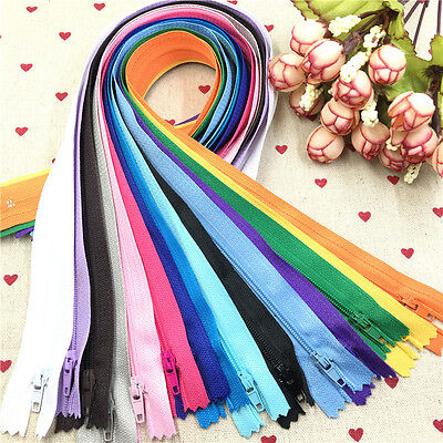 Wholesale 5-200pcs Nylon Coil Zippers Tailor Sewing Tools Craft 40cm(16 Inch)DIY