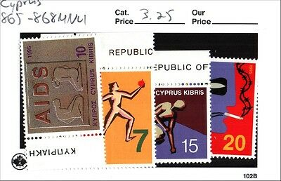 Cyprus Stamps Scott 865-868 MNH Low Combined Shipping