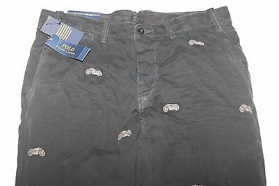 Polo Ralph Lauren Men's 710542107001 Embroider Motorcycle Pants 36x30 NWT $125