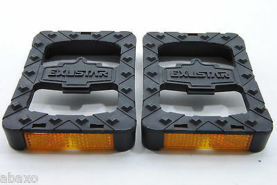 EXUSTAR Clipless Adapter Pedal Platform with Reflector : Fit Shimano SPD