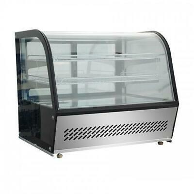 Cold Food & Cake Display Fridge Countertop 120L Curved Cabinet 696x568x686mm NEW