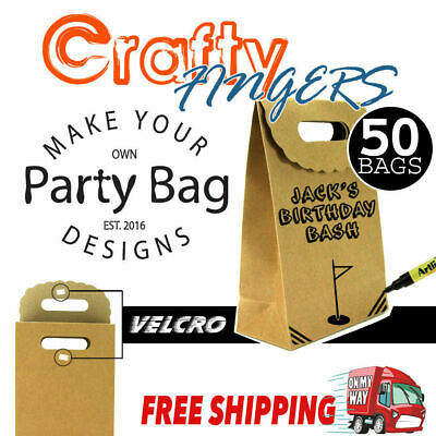 Bulk Small Brown Paper Kraft Flat Bottom Bags Lolly Gift Wedding Party Favour