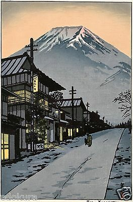 Kasamatsu Shiro JAPANESE Woodblock Print SHIN HANGA - Mt.Fuji from Yoshida