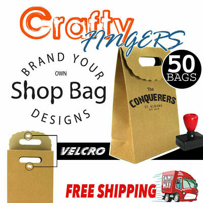 Bulk Small Brown Paper shop Flat Bottom Bags Lolly Gift Wedding Party Favour