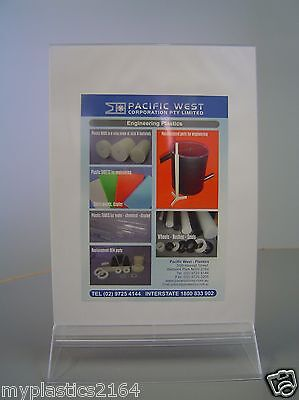 Clear Counter Top/Desktop A4 Double Sided Information Holder - Aussie Seller