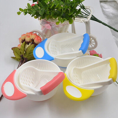 1 Pcs Baby Infant Learn Dishes Grinding Bowl Kids Handmade Grinding Food Bowls