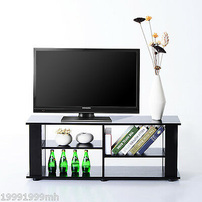 "HOMCOM 58"" TV Stand Entertainment Media Center Console Storage Table Furniture"