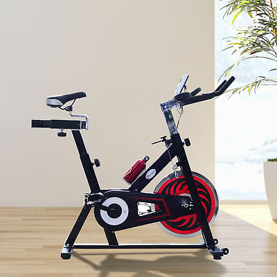 Soozier Exercise Bike Fitness Upright Indoor Bicycle Trainer W/ LCD Monitor