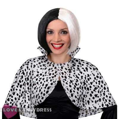 Evil Dog Lady Bob Wig & Cape Set Book Week Character Fancy Dress Halloween