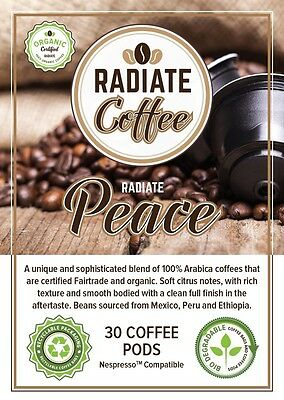 RADIATE PEACE Pods 30 Pack Nespresso compatible