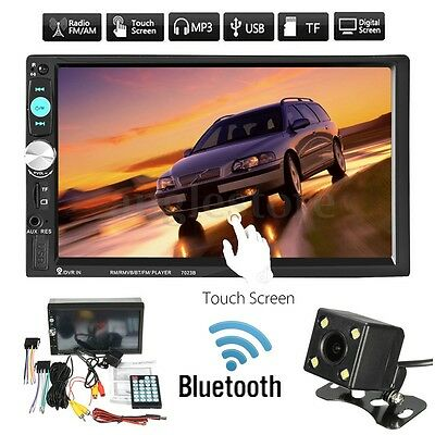 "7"" HD Bluetooth Touch Screen 2 Din Autoradio FM AUX Player MP5 TF+Rückfahrkamera"