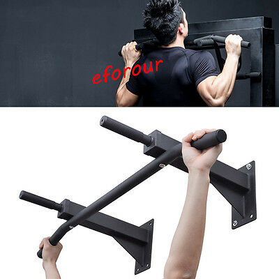 Exercise Fitness HOME DOOR PULL UP BAR Chin-Up Doorway Wall Mounted Gym Iron UK