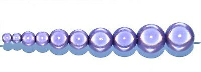 acrylic miracle beads , round, purple, options for size 4, 6, 8, 10, 12 mm*